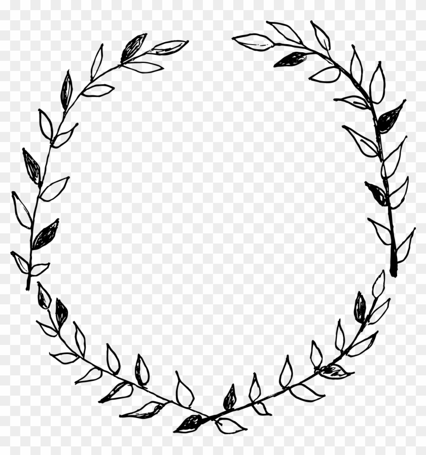 Christmas Wreath Png Transparent.Christmas Wreath Clipart Black And White Hand Drawn Wreath