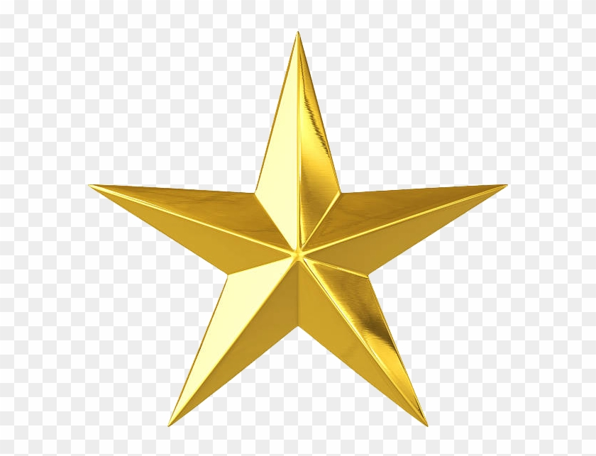Cms 4 Stars , Png Download - Gold Star With No Background