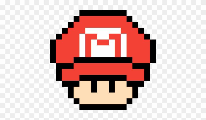 Mario Mushroom With Mario Hat Pixel Art Mario Hd Png Download