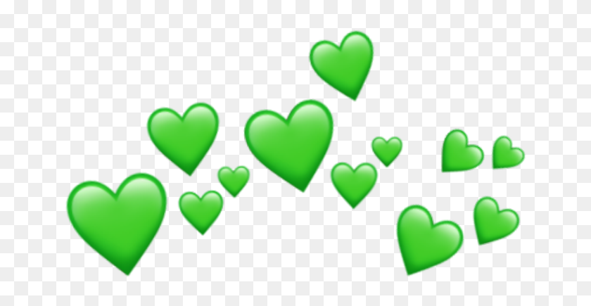Green Tumblr Png - Wholesome Meme Hearts Png, Transparent