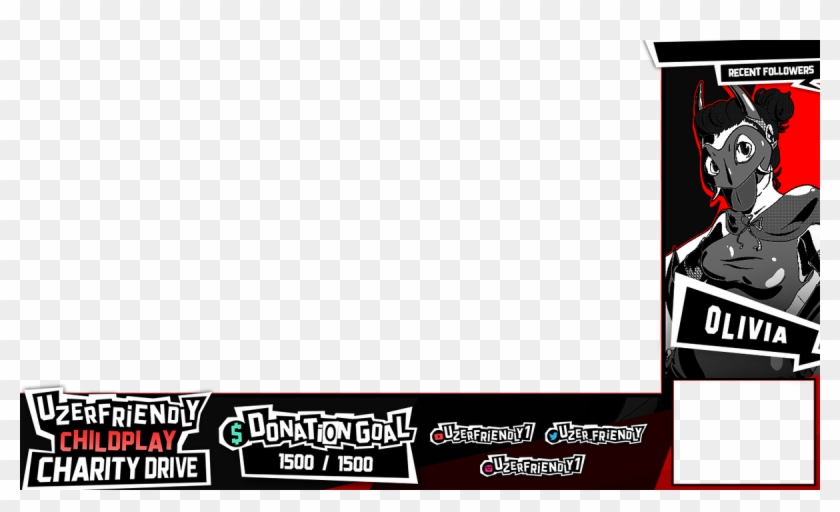 Dev On Twitter - Persona 5 Twitch Layout, HD Png Download