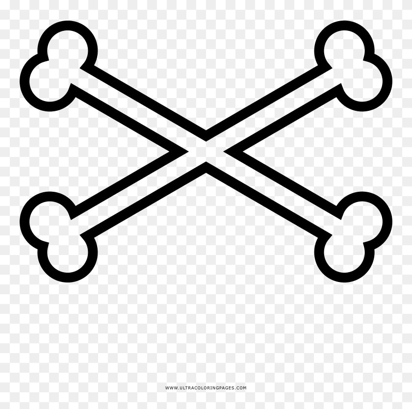 Crossbones Coloring Page Roblox Pirate Skull Hd Png Download