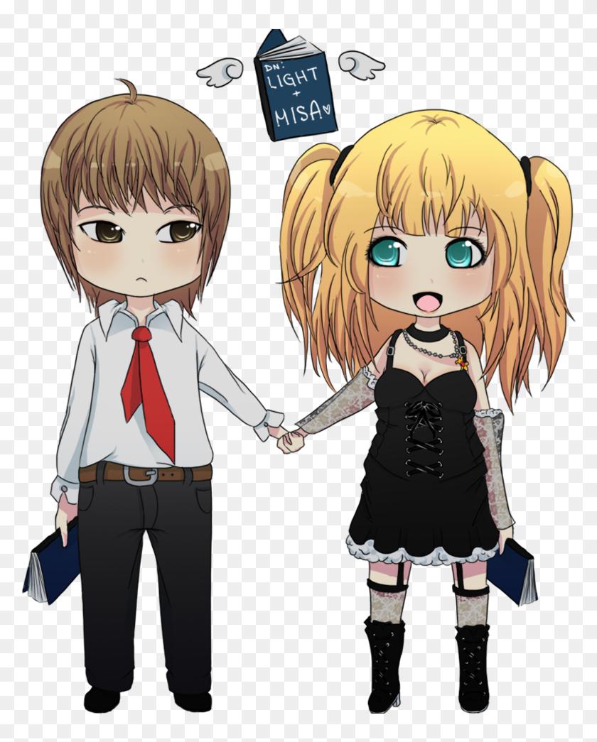 Light And Misa Light Yagami Death Note Chibi Light Y Misa