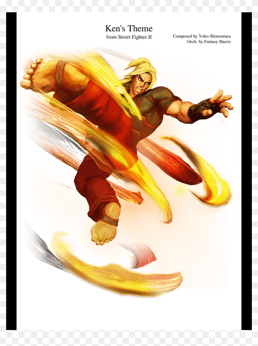 Street Fighter Ii Ken Street Fighter 5 Hd Png Download 850x1100 3132581 Pinpng