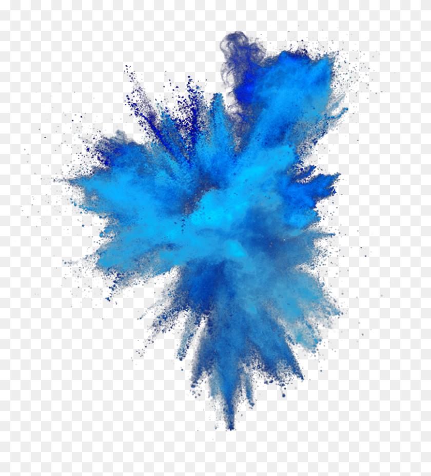 Color Splash Burst Colorsplash Colorburst Smoke Blue