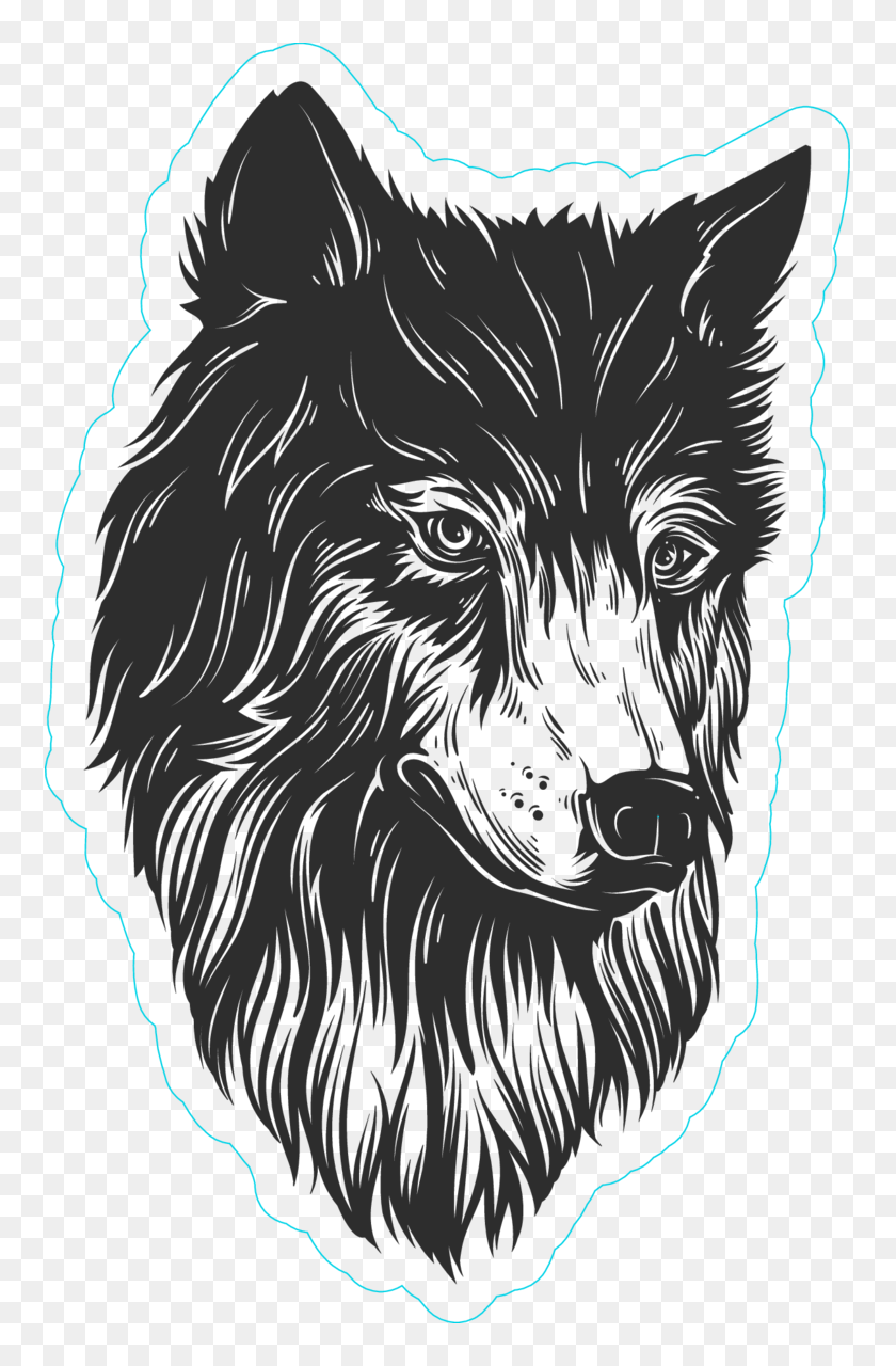 Howling wolf custom stickers decals vinyl png howling wolf