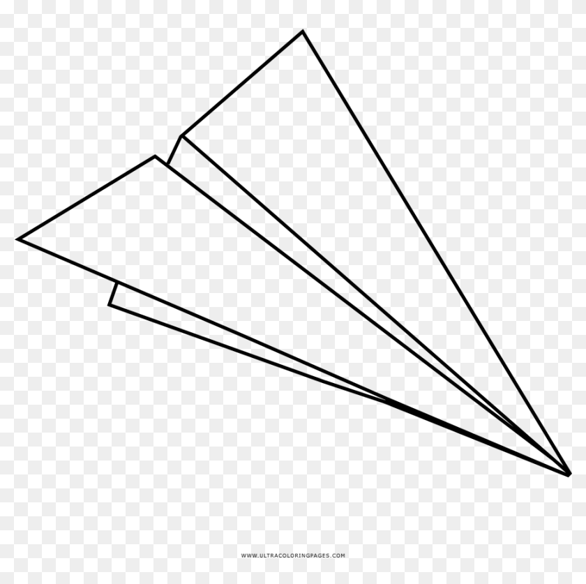 Paper Airplane Coloring Page White Paper Airplanes Png