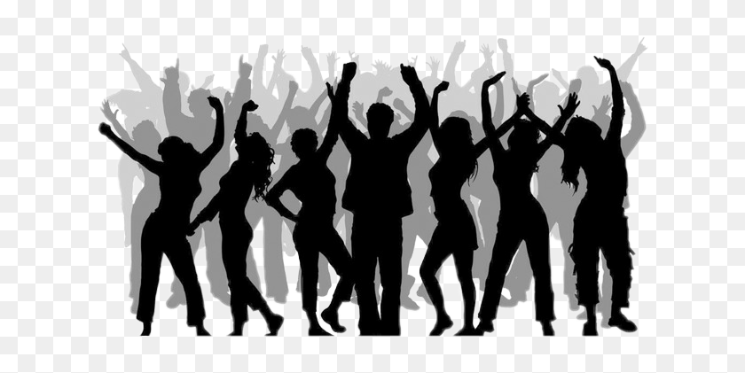 Crowd Silhouettecrowd Silhouette Party Dancing Silhouette Dance Party Clipart Hd Png Download 622x341 3220822 Pinpng
