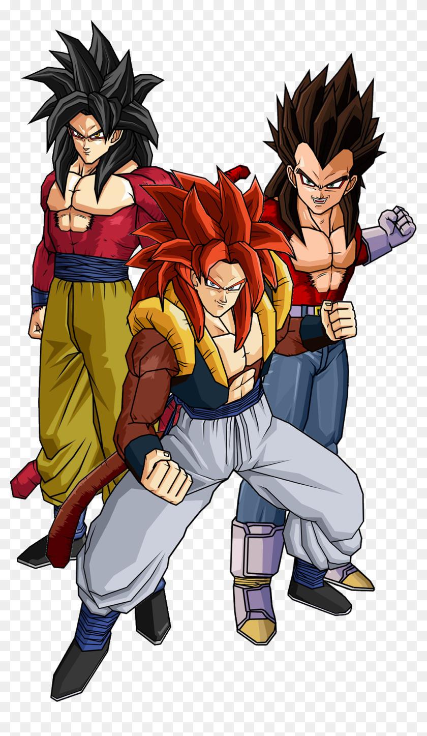 Super Saiyan 4 Goku Vegeta And Gogeta Vegeta Super