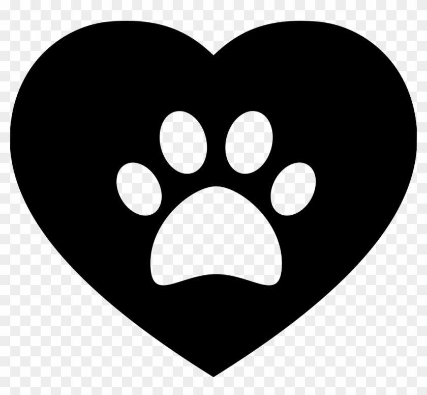 Dog Pawprint On A Heart Svg Png Icon Free Download - Dog