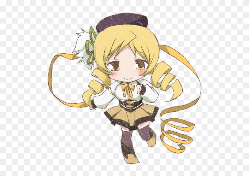 Mami Tomoe Mamitomoe Chibi Madokamagica Cartoon Hd Png Download 656x656 3388362 Pinpng