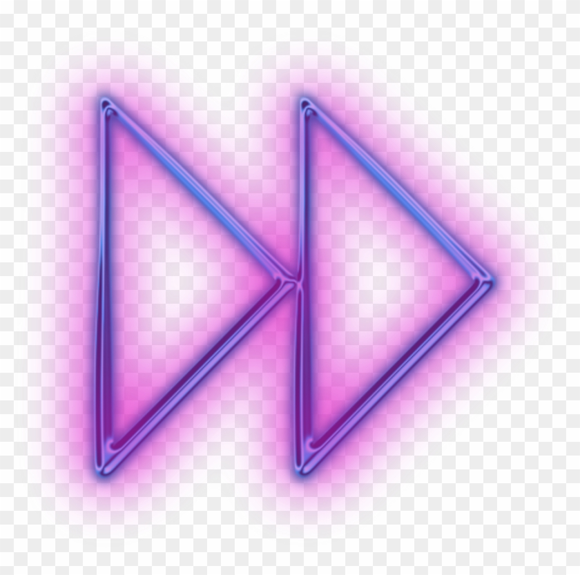 Neon Cute Arrow Clipart - Triangle, HD Png Download