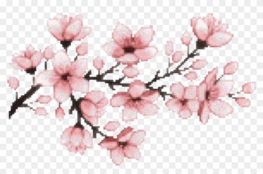 Pink Sticker - Cherry Blossom Pixel Gif, HD Png Download