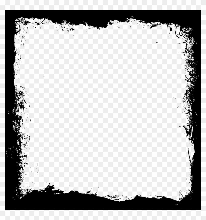 Transparent Square Frame Grunge - Texture Frames, HD Png