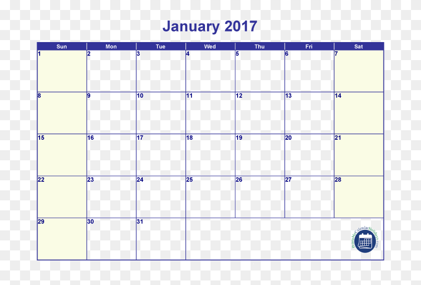 image about Printable 12 Month Calendar referred to as January 2017 Calendar - Totally free Printable 12 Thirty day period Blank