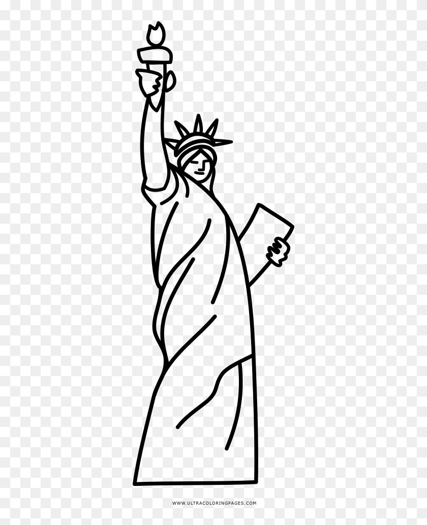 - Statue Of Liberty Coloring Page - Estatua Dibujo, HD Png Download