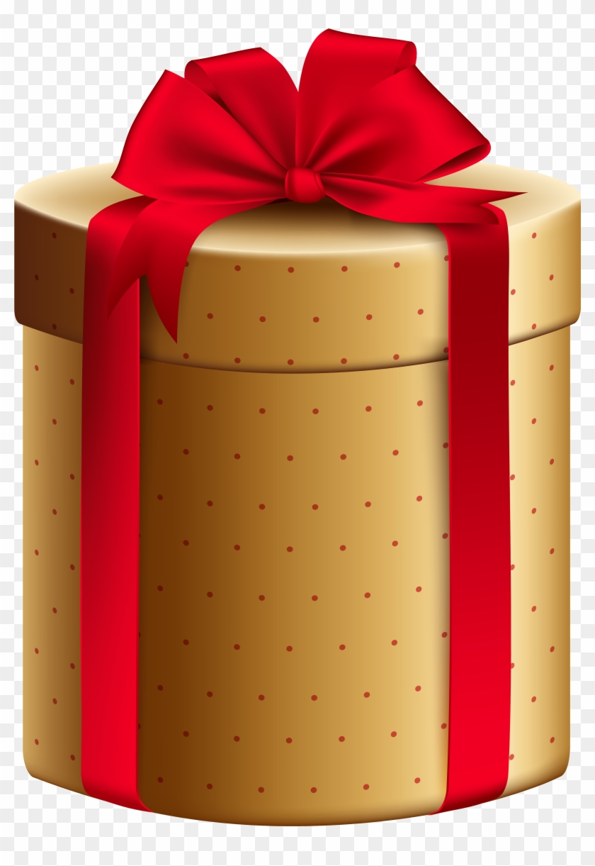 Gold Red Gift Box Png Clipart Image Gold Christmas Present