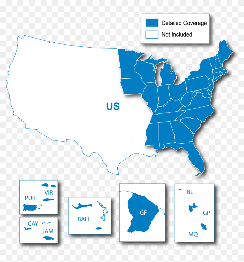Lower 49 States Ne - Race Us Map, HD Png Download ...