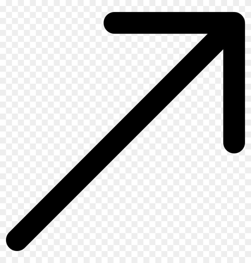 Png File Svg - Arrow Pointing Up Right, Transparent Png