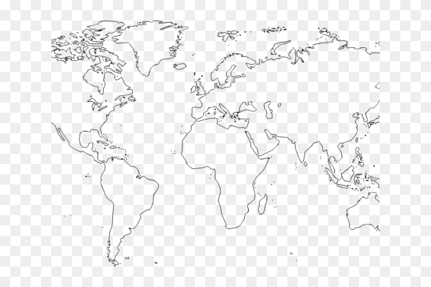 World Map Outline Png, Transparent Png - 640x480 (#3849209 ...