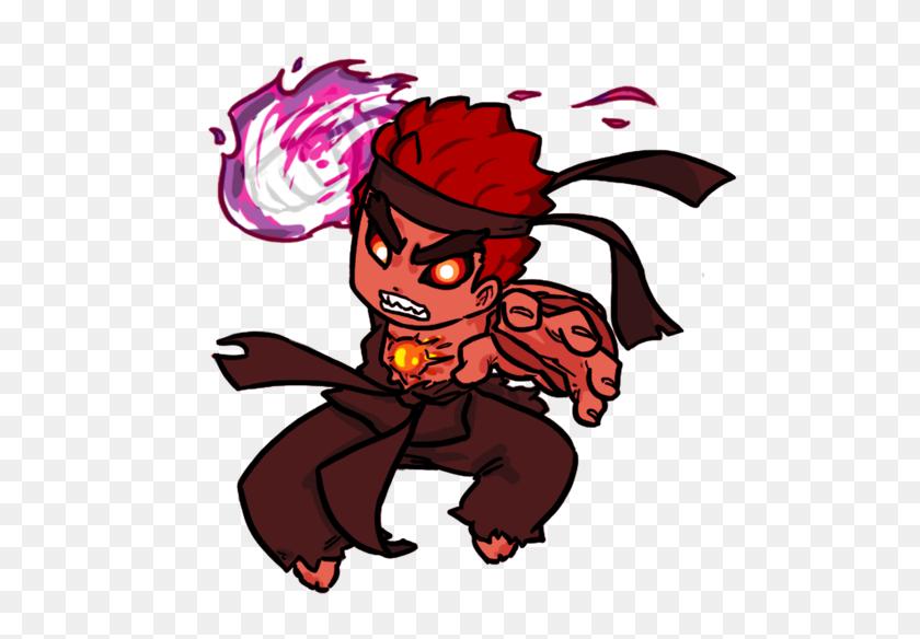 Evil Ryu Chibi Street Fighter Evil Ryu Chibi Hd Png Download