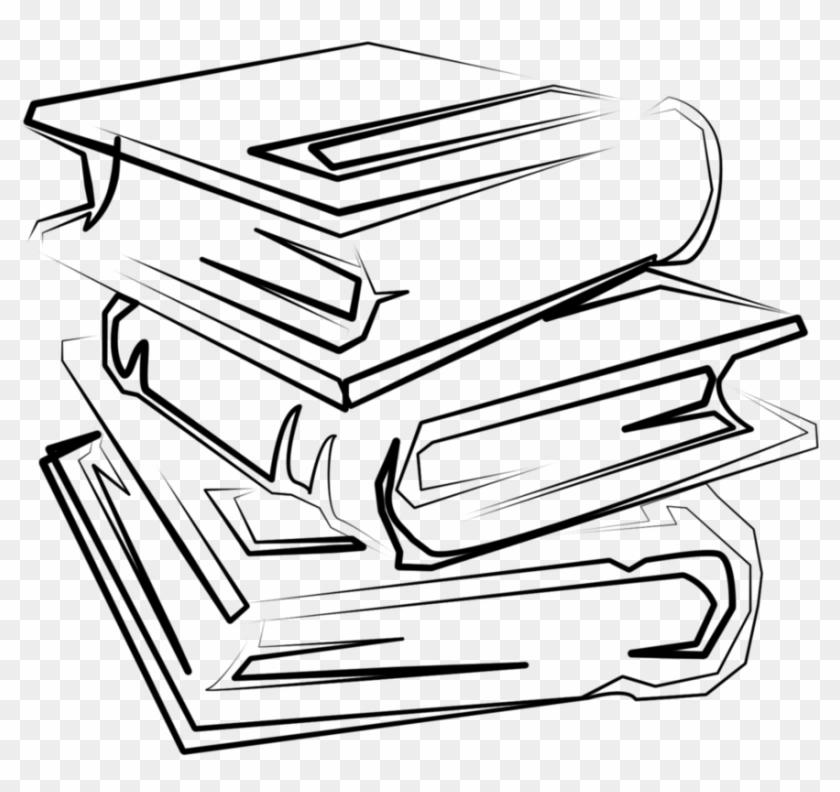 Book Outline - Stack Of Books Outline Png, Transparent Png