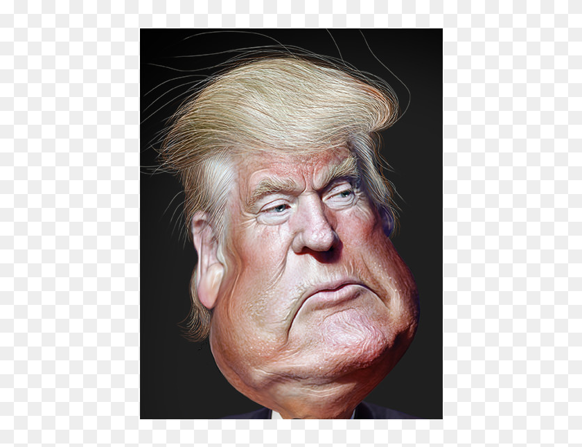picture relating to Donald Trump Mask Printable named Donald Trump Caricature, High definition Png Down load - 1000x564