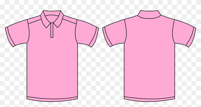 Shirt Pink Template Polo Fashion Design Textile Pink Polo Shirt Front And Back Hd Png Download 960x480 4196050 Pinpng