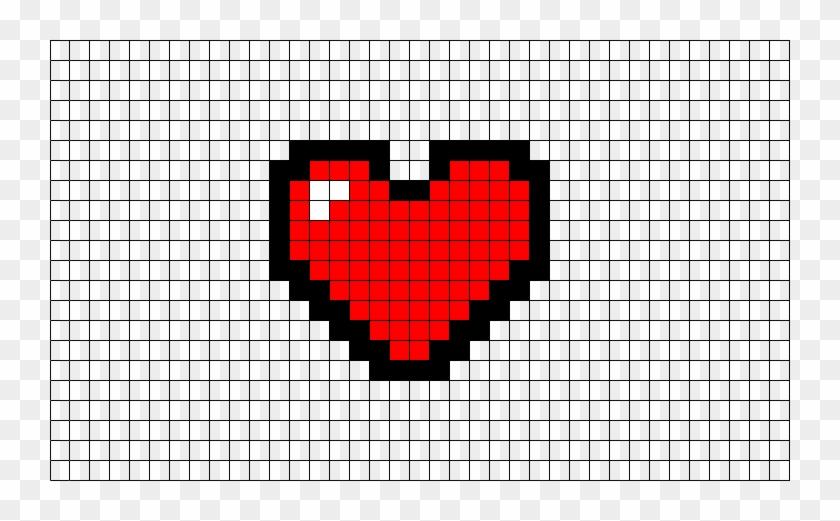 Pixel Art Heart Easy Hd Png Download 740x441 430061