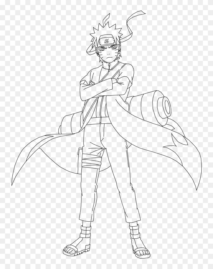Naruto Sage Mode Png Png Download Line Art Naruto Hokage