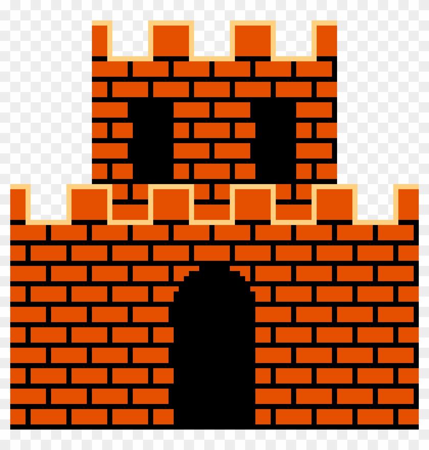 Super Mario Castle Super Mario Castle Sprite Hd Png Download