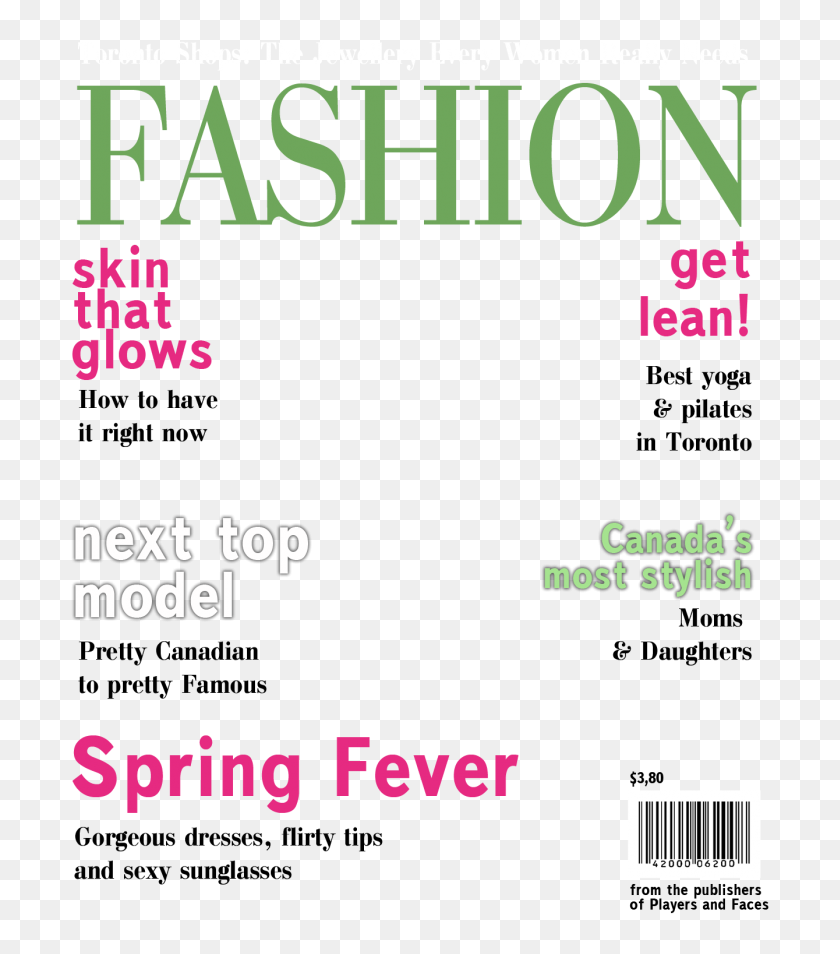 Blank Magazine Cover Template Clipart Magazine Vogue Magazine Covers Templates Free Hd Png Download 699x874 4510277 Pinpng