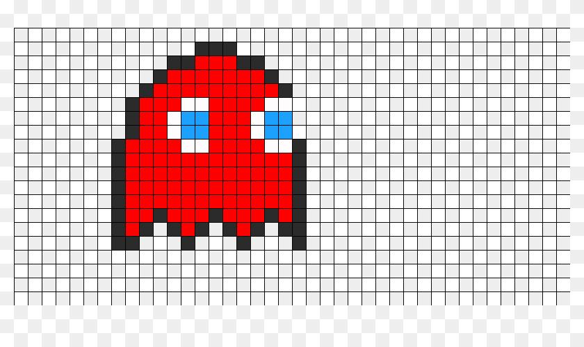 Pac Man Ghost Perler Bead Pattern Bead Sprite Pixel Art