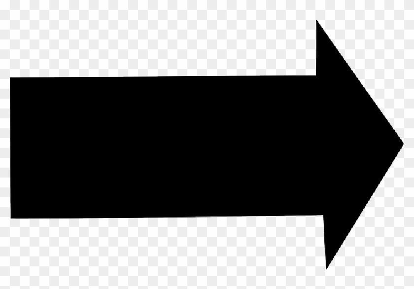 Black Arrow Pointing Clipart - Right Arrow Clip Art, HD Png