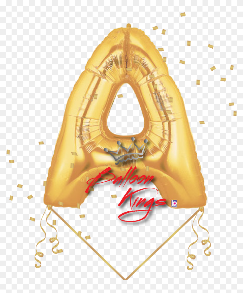 Gold Letter A - Balloon Letters Png, Transparent Png