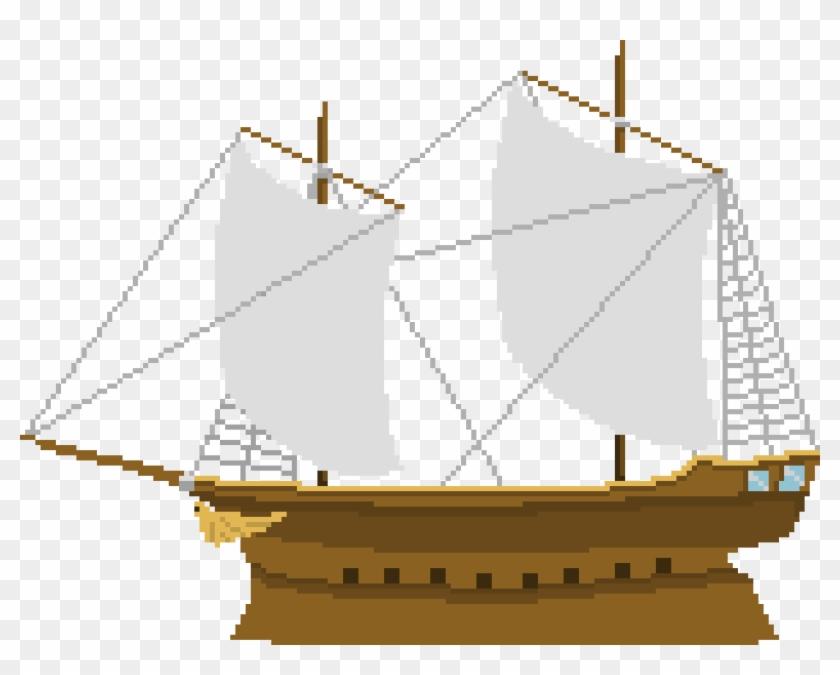 Pirateship Pixel Art Pirate Ship Hd Png Download 1560x1180 489171 Pinpng