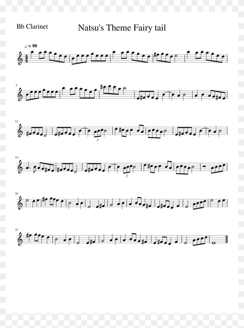 Natsu's Theme Fairy Tail - All Star Drum Sheet Music, HD Png