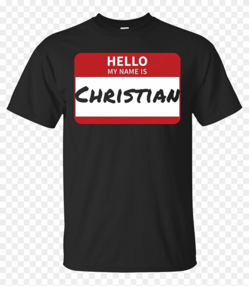 Christian Name Tag Shirt Hello My Name Is Sticker Hd Png Download