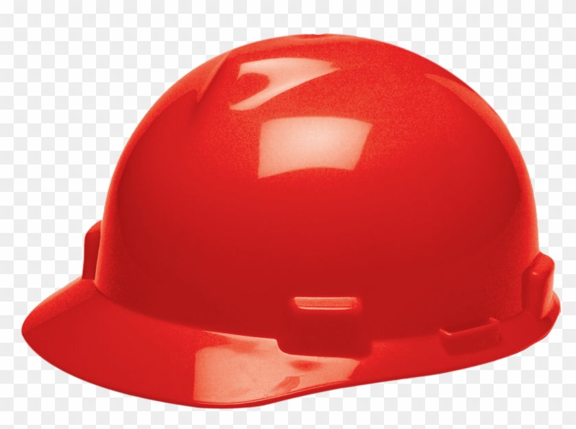 Red Msa Hard Hat With Fas Trac Suspension Image Hard Hat