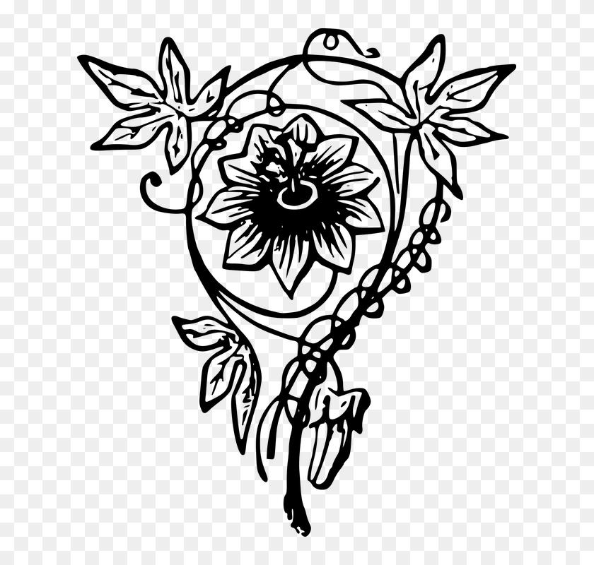 Design Floral Flower Ksvsm Black And White Images Gambar Desain
