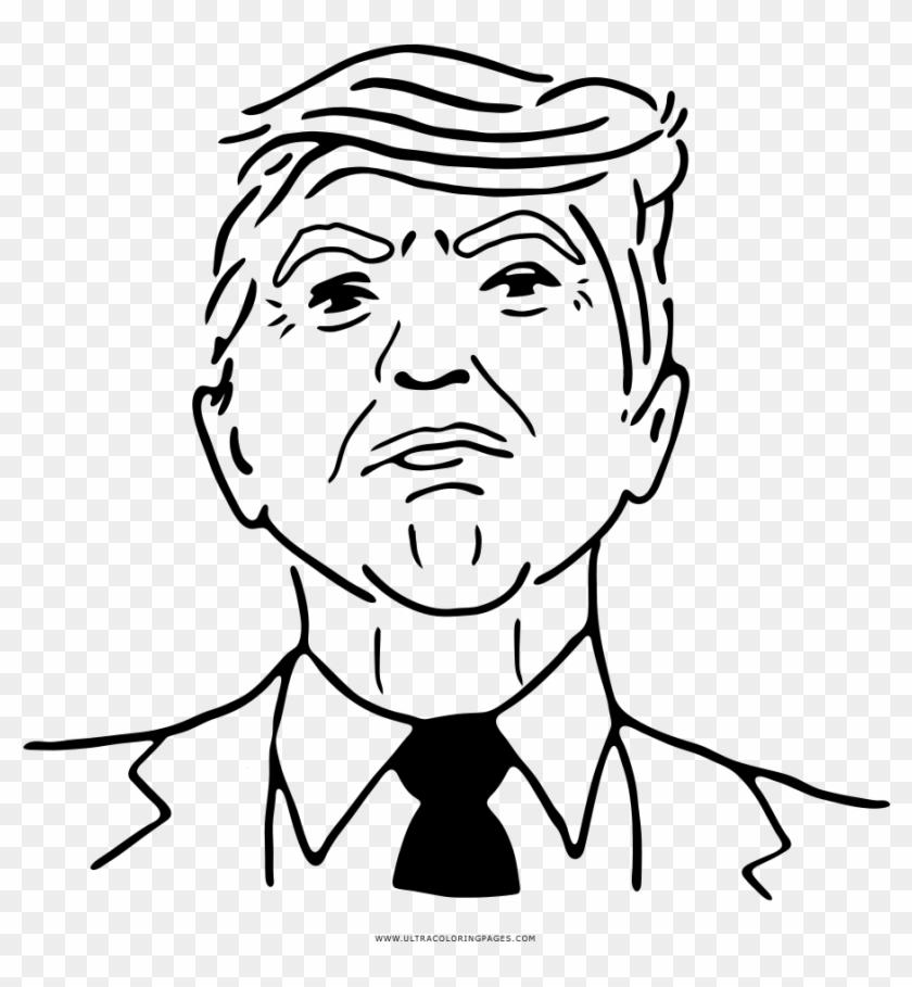 Donald Trump Coloring Page Dibujos De Donald Trump Para