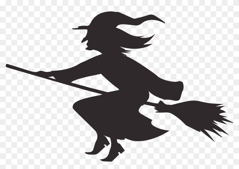 Halloween Witch Silhouette Png Clip Art Image Halloween Witch Silhouette Transparent Png 8000x5294 5259022 Pinpng