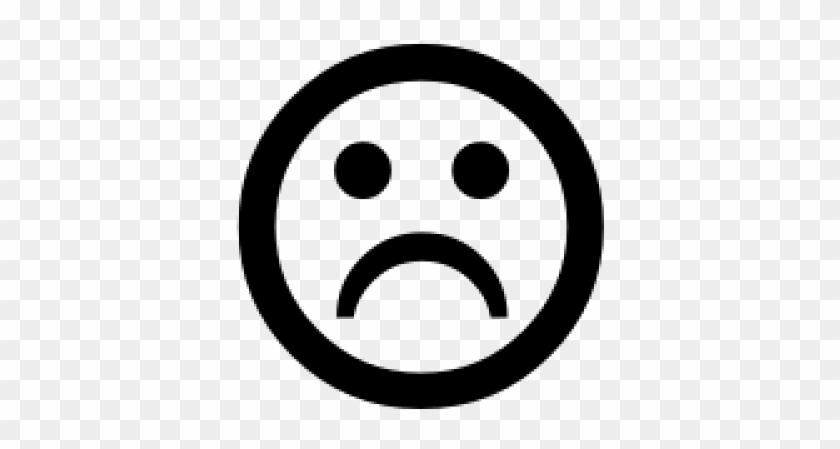 Sad Face Emoji Black And White, HD Png Download - 640x480