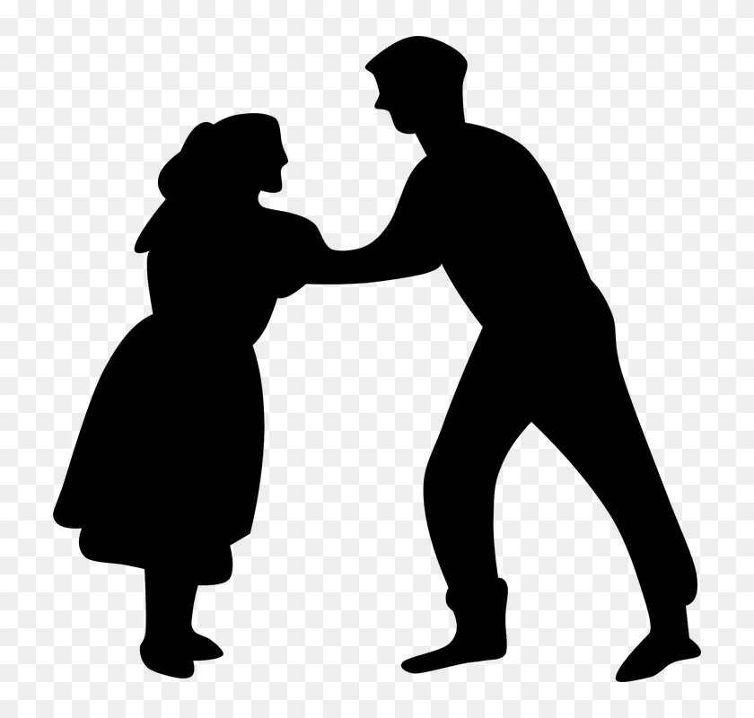 Dancers Square Dance People Couple Two Silhouettes Dancing Clip Art Hd Png Download 722x720 5379017 Pinpng