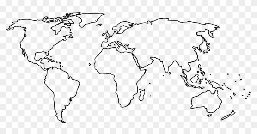 Free Download - High Resolution Outline Map Of The World, HD ...