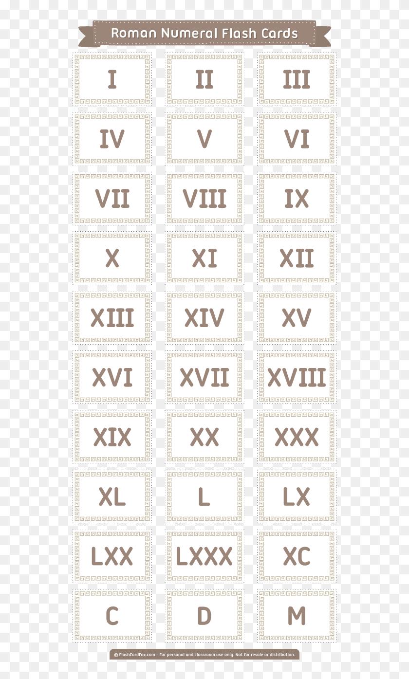 picture regarding Roman Numerals Printable titled Cost-free Printable Roman Numeral Flash Playing cards - Hemophilia