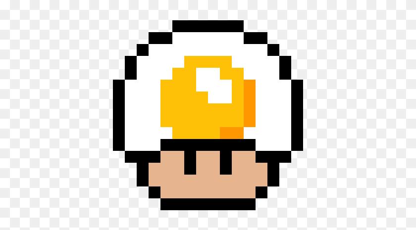 Mushroom De Huevo Frito - Pixel Art Champignon Mario, HD Png Download - 1200x1200 (#5710543 ...