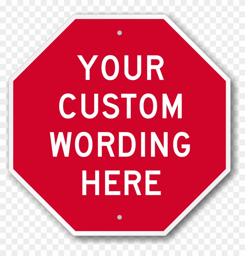 photo about Printable Stop Sign known as Personalized Octagon Formed Indication Customized Reduce Indications - Printable
