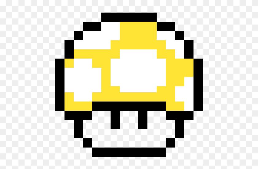 Yellow Supermario Mushroom Mario Mushroom Pixel Gif Hd Png
