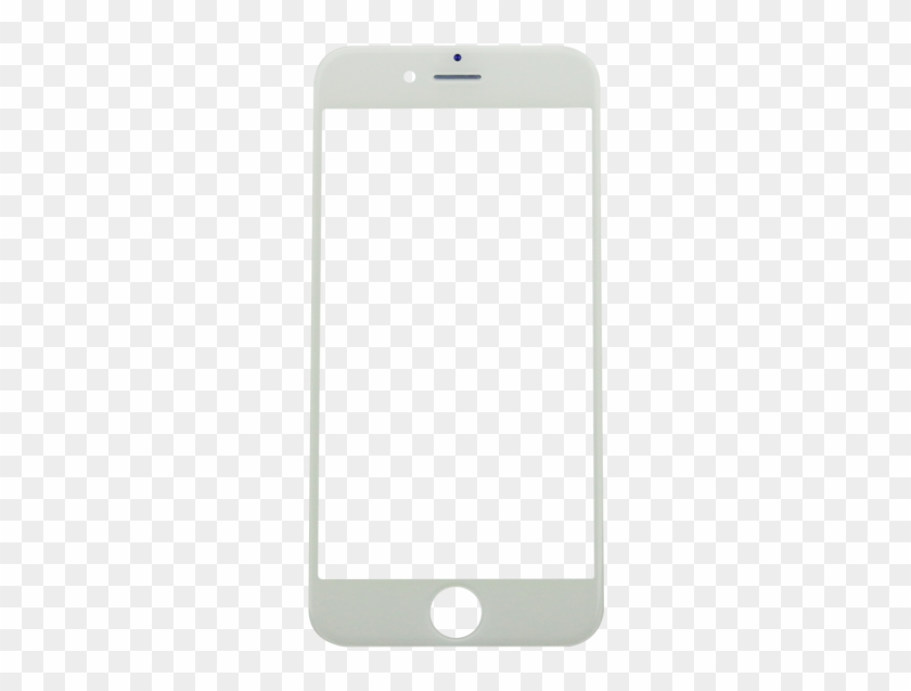 Iphone 6 Glass Lens Screen & Frame - Mobile Frame Png White